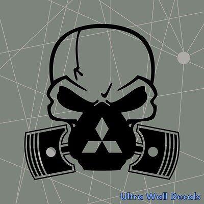 Totenkopf Skull Ventil Aufkleber für Mitsubishi Moto Auto Sticker Autoaufkleber (Mitsubishi Auto Aufkleber)