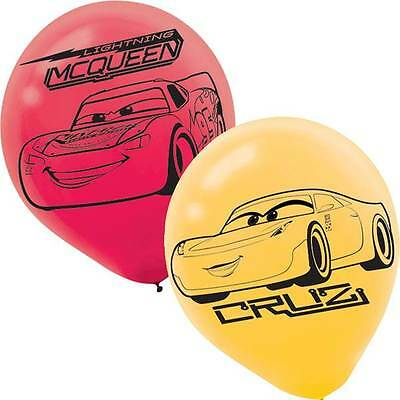 Disney Cars Balloons (Disney Pixars Cars 3 Latex Balloons Party Supplies Decoration)