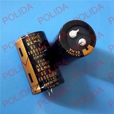 4pcs Elna Audio Electrolytic Capacitor Size 3050mm 10000uf63v63v10000uf