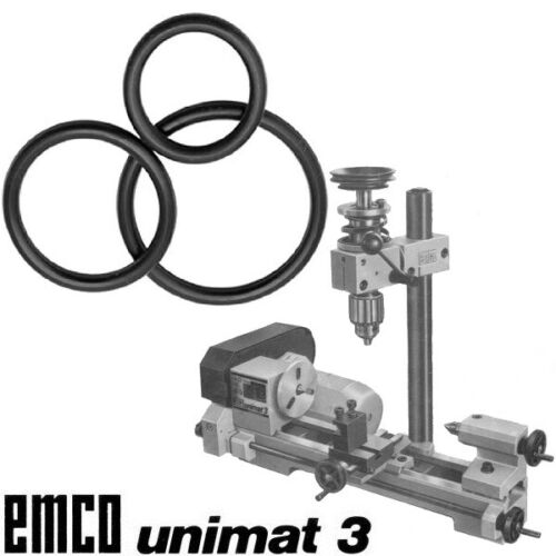 UNIMAT 3 Belts Emco Unimat 3 Belting Set Emco Unimat 3 O-rings