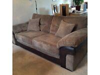 2 x 3 seater corduroy sofas