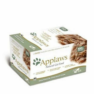 Applaws Multi Pack Natural Cat Food 8 x 60g Fish Selection Pet Food Snack Pots