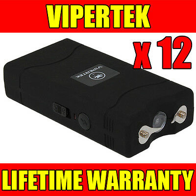 (12) VIPERTEK BLACK VTS-880 Mini Stun Gun - Wholesale Lot