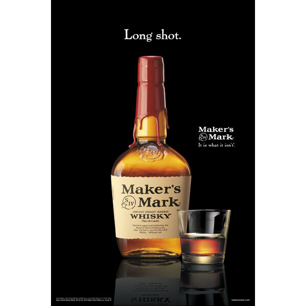 """MAKERS MARK """"LONG SHOT"""" POSTER 24 BY 36  NEW"""
