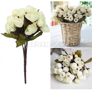 Détails sur Fleurs Artificielles Rose Rosette decoration mariage deco ...