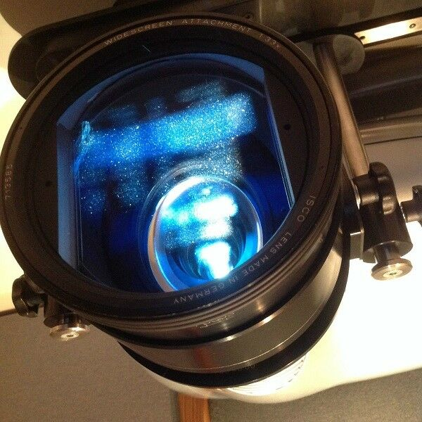 Isco 111 Anamorphic Lens  with Isco UNICOL Ceiling Bracket and mot Cineslide Sled