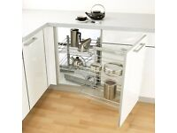 Cooke and Lewis pull and swing kitchen corner storage unit left hand