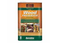 Barrettine Premier Wood Preservative 5 litres clear stain oil decking garden timber sheds fences
