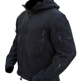 Tactical Recon Hoodie in Black - Great for the inclement weather!