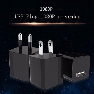 FULL HD 1080P USB Camera Mini Hidden Spy Scoutout DVR Wall Adapter Charger+32GB