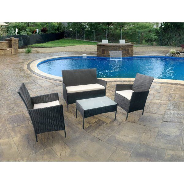 stunning 4 piece rattan garden furniture set - Garden Furniture Eastbourne