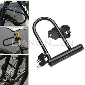 bike motorbike motorcycle security u lock strong cycle scooter bicycle d lock ebay. Black Bedroom Furniture Sets. Home Design Ideas