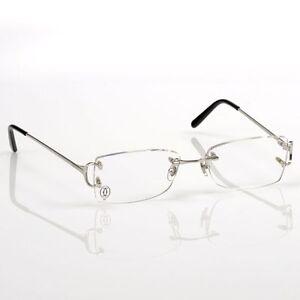 40d334949a Cartier Paris C Decor 135 Collection Frameless Rimless Frames Eyeglasses  New