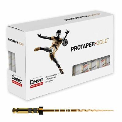 Dentsply Protaper Gold Rotary Files F1f2f3s1s2sx-f3 25mm 6 Files Per Packs