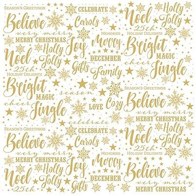 Scrapbooking Crafts 12X12 Paper PH Christmas Joy Acetate Gold Bright Jingle Star](Paper Christmas Crafts)
