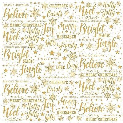 Scrapbooking Crafts 12X12 Paper PH Christmas Joy Acetate Gold Bright Jingle Star