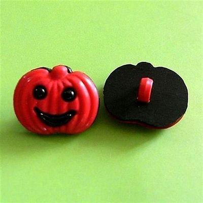 15 Pumpkin Fruit Kid Child DIY Decor Bags Halloween Sew On Buttons 15x18mm - Pumpkin Halloween Costume Diy
