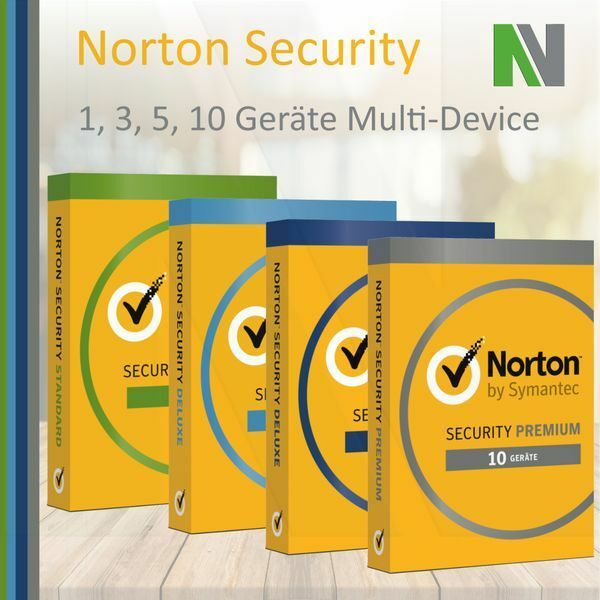 Norton Security 1 3 5 10 PC Geräte 1 2 Jahr 2018 Android Deluxe Premium Internet