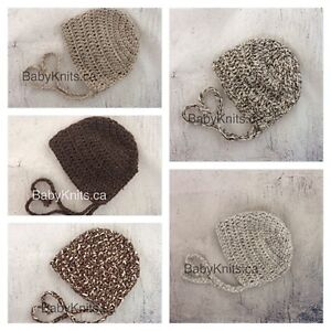 Baby Knits - Neutral Baby Bonnets
