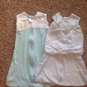 2 Baby sleep sacks size small