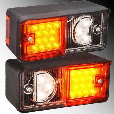 2x LED Positionsleuchte Traktor Blinker Standlicht 12V-24V Anhänger Bagger ()
