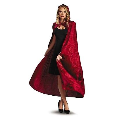 Adult Red Riding Hood Cape (NEW SEXY ADULT WOMAN CAPE - PRETTY LITTLE LIARS RED RIDING HOOD RED BLACK)