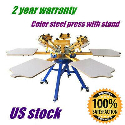 Us 6 Color 6 Station T-shirt Silk Screen Printing Printer Press Carousel Machine
