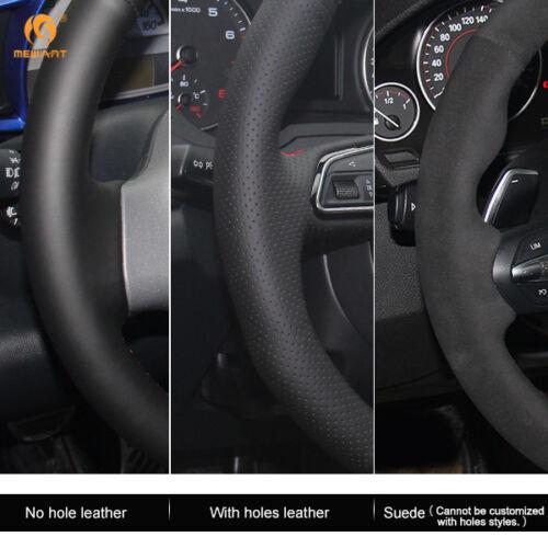 Black Leather Steering Cover Wrap for BMW E46 318i 325i E39 E53 X5 #13#