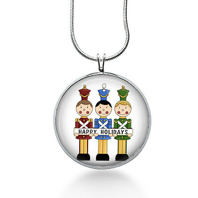 Christmas Nutcrackers Necklace, Holiday Pendant, soldiers, gifts for women ()