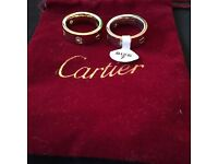 Cartier rings x2 gold with diamonds