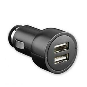 MaxTech USB 2.0 Dual Port Charger for Mobile Phone - PDA - iPod - MP3 - MP4 and More - 5V- 2A - Black