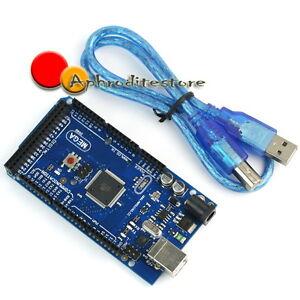ATmega2560-16AU-Mega-2560-Scheda-Board-Cavo-per-Arduino-Duemilanove-Diecimila