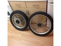 Crosser rims plus tyres £50
