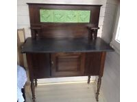 Black Marble Wash Stand