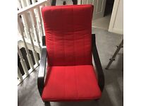 Red/black relaxer chair