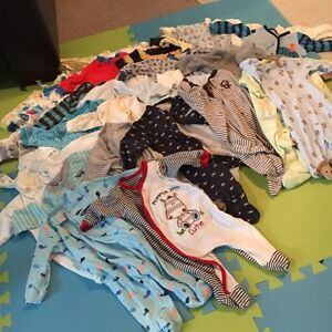 Baby boy clothes 0-6 months.