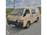 Left hand drive Mitsubishi L300 P15 2.5 D double door long wheel base minibus. MOT.