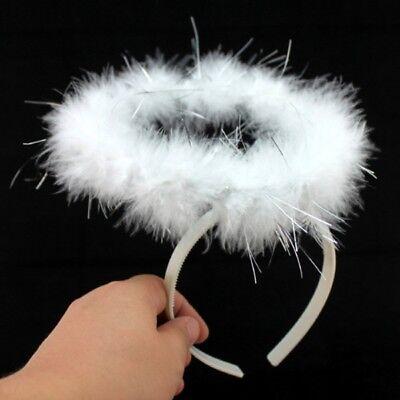 US Kids Adults Angel Halo Headband Fairy Feather Head Warp Party Dress - Angel Halo Headband