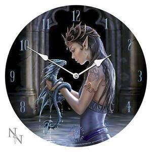 Ann stokes water dragon clock 34 cm Loganholme Logan Area Preview