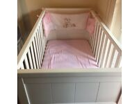 Baby cot and mattress ( sheet and blanket also)
