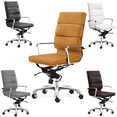 High Back Soft Padded Executive Management Office Chair - Pu Leather