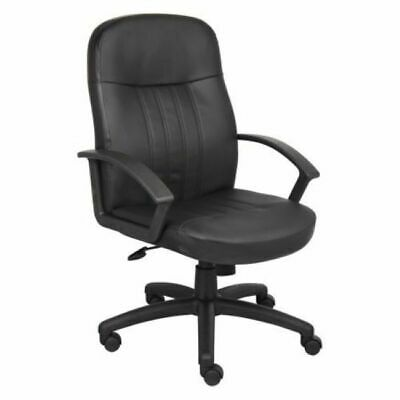 Ergonomic Executive Office Chair Upholstered Faux Leather Swivel Adjustable New
