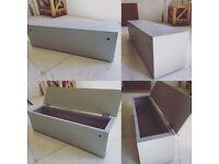 Garden storage bench and box