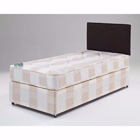CLASSIC LOOK --Same Day Free Delivery -- Standard Single Divan Bed -- GET IT TODAY