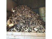 Hardwood and softwood firewood logs and kindling