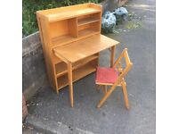 Childs 1950s Writing Bureau / Drop Leaf Desk