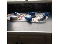 Caravan or motorhome electric cable