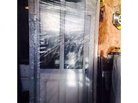 White pvc front door