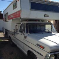 1971 Ford truck and camper