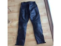 Skintan leather motorcycle trousers